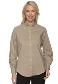 Van Heusen 59800 Women's Pocket Long Sleeve Wrinkle Resistant Oxford