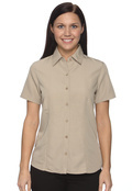 Harriton M560W Women's Barbados Textured Camp Shirt