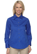 Harriton M500W Women's Twill Long Sleeve Stain Release
