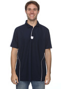 Chestnut Hill CH355 Men's Piped Technical Performance Polo