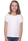 Bella+Canvas B9001 Girl's Cotton Short Sleeve Baby Rib Crew Neck T-Shirt