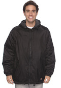 Dickies 33237 Adult Fleece-Lined Hooded Nylon Jacket