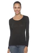 Anvil 399 Women's Sheer Long-Sleeve Scoop Neck T-Shirt