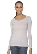 Anvil 399 Women's Sheer Long-Sleeve Scoop Neck T-Shirt
