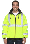 OccuNomix LUXETJ Adult Value Bomber Jacket, Class 3 High Viz
