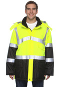 OccuNomix LUXTJC Adult Insulated Cold Weather Parka, Class 3 High Viz