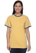 Authentic Pigment 1946 Adult 5.6 oz. Pigment-Dyed Ringer T-Shirt