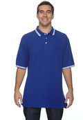Chestnut Hill CH113 Men's Tipped Performance Plus Pique Polo W Tail