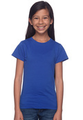 LAT 2616 Girl's Fine Jersey Longer Length T-Shirt