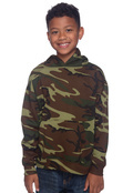 LAT 2969 Youth 60/40 Camouflage Pullover Hoodie