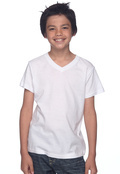 Bella 3005Y Youth 4.2 oz. V-Neck Jersey T-Shirt