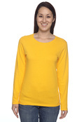 Gildan G540L Ladies' 5.3 oz. Heavy Cotton Missy Fit Long-Sleeve T-Shirt