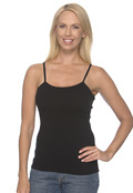 Bella+Canvas 1011 Women's 1x1baby Rib Spaghetti Strap Tank Top