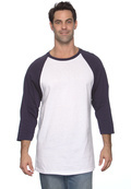 Anvil 2184 Adult 3/4 Raglan Sleeve Baseball Jersey