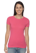 Anvil 1441 Women's 1x1 Ribbed Scoop Neck T-Shirt