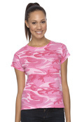 LAT 3665 Women's Cotton Jersey Camouflage T-Shirt Code V
