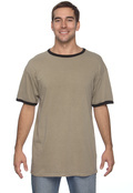 Authentic Pigment 1946 Adult 5.6 oz. Pigment-Dyed Ringer T-Shirt