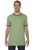 Canvas 3055C Men's Robertson Heather Ringer T-Shirt