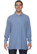 Chestnut Hill CH110 Adult Long-Sleeve Performance Plus Pique Polo