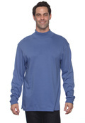 Chestnut Hill CH230 Adult Pima Cotton Mock Neck-Long Sleeve