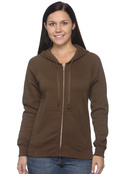 Hanes W280 Women's Full Zip Fleece Hood