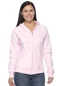 Hanes W280 Women's Full Zip 8oz Fleece Hood