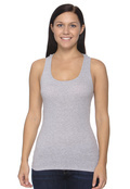 Bella B4070 Women's  Cotton 2x1 Rib Racerback Longer Length Tank