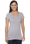 Bella B6005 Women's Cotton V-Neck T-Shirt