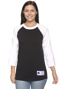 Champion T1397 Adult Tagless 3/4 Sleeve Raglan Baseball T-Shirt