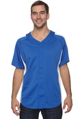 Champion T2207 Pieced Mesh Button-Front Baseball Jersey-Adult