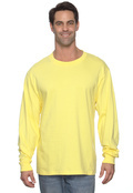 Hanes 5186 Cotton Beefy-T Long Sleeve  Adult T-Shirt