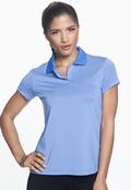 Adidas A120 Women's ClimaLite Classic Stripe Short-Sleeve Polo