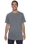 Authentic Pigment 1969P Adult 5.6 oz. Pigment-Dyed & Direct-Dyed Ringspun Cotton Pocket T-Shirt