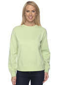 Comfort Colors C1596 Womens 10oz Garment-Dyed Wide-Band Fleece Crew