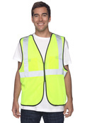 OccuNomix ECOGCBL Adult Value Mesh Five-Point Breakaway Vest, Class 2 High Viz