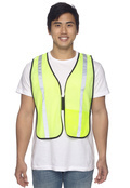 OccuNomix LUXXSB Adult Value Mesh Silver Bead Vest High Viz