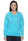 Comfort Colors C1595 Womens Garment-Dyed Front-Slit 9oz Pullover Hoodie