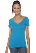 Bella+Canvas B8410 Women's Cecilia Double V Sheer Jersey T-Shirt
