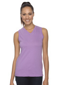 LAT 3584 Women's Ringspun V-Neck Sleeveless T-Shirt