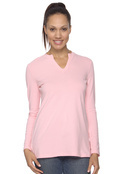 Devon & Jones DP165W Pink Women's Stretch Jersey Long-Sleeve Tunic