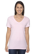 Hanes S04V Women's 4.5 oz. 100% Ringspun Cotton nano-T V-Neck T-Shirt