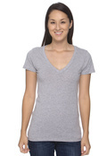 Bella+Canvas B6035 Women's 4.2 oz. Jersey Deep V-Neck T-Shirt