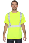 OccuNomix LUXSSE Adult Birdseye Wicking T-Shirt, Class 2 High Viz