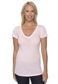 Bella+Canvas B8417 Women's Lidia Tissue Jersey Deep V-Neck T-Shirt