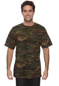 Anvil 939 Men's Camouflage Cotton T-Shirt