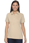 Devon & Jones D130WGR Organic Cotton Women's  Pique Polo