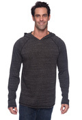 Alo M3101 Men's Performance Triblend Jersey Long-Sleeve Hooded Pullover