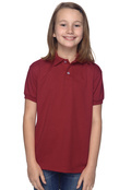 Hanes 054Y Youth  50/50 EcoSmart Jersey Knit Polo
