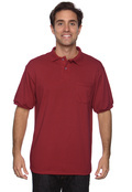 Hanes 054P Adult 50/50 EcoSmart Jersey Polo With Pocket