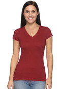 LAT 3607 Women's V-Neck Longer Length T-Shirt